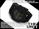 Nixon men watch THE UNIT unit black silicon belt A197-000