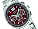 SEIKO wired men watch chronograph new standard model wine red AGAW407