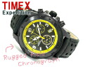 Timex Expedition outdoor men's Chronograph Watch Black Dial leather belt T49783