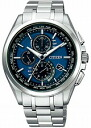 Citizen atessa mens watch eco-drive radio clock perfect multi 3000 ダイレクトフライト chronograph blue titanium AT8040-57L