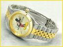 Disney Mickey Mouse Watch Gold Turton bezel mens [MU0959]