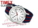 Timex Weekender mens and ladies watch White Dial ネイビーマルチ nylon belt T2N747