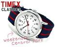 Timex Weekender mens and ladies watch White Dial ネイビーマルチ nylon belt T2N747