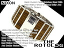 Nixon mens watches 'THE ROTOLOG' rotolog】dark teak A028-439