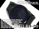 Nixon Mens Watches THE 51-30 all black purple stainless steel A057-714