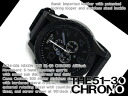 Nixon men's Chronograph Watch THE 51-30 CHRONO LEATHER 51-30 Chrono all black leather A124-001