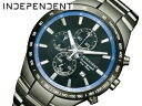 Independent men's watches CITIZEN citizen chronograph all black BA2-091-51