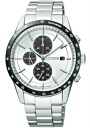Citizen collection men watch ecodrive solar chronograph white CA0454-56A