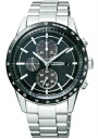 Citizen collection mens watch eco-drive solar chronograph black CA0454-56E