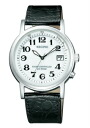 Citizen Ragno men's watches solar TEC radio watch white black leather KL7-019-10
