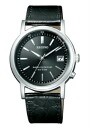 Citizen Ragno men's watches solar TEC radio watch black black leather KL7-019-50