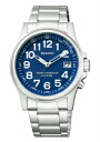 Citizen Ragno men's watches solar TEC radio watch blue KL7-116-71