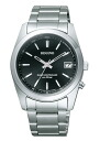 シチズンレグノソーラーテック radio time signal men watch black dial silver stainless steel belt RS25-0483H