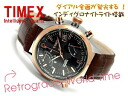 Timex men's watch world time with intelligent quartz a rose gold bezel black dial brown leather belt T2N942