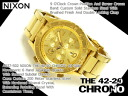 42-20 42-20 Nixon men watch THE CHRONO Kurono oar gold stainless steel A037-502