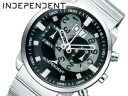 It is going to release it in the INDEPENDENT independence men watch chronograph big date black BX1-012-51 ※ middle of May