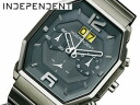 INDEPENDENT independent mens watch chronograph big date all gun metal BX1-101-61 * mid-May released