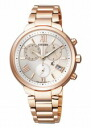 Citizen cross sea ladies watch Titania line chronograph eco-drive solar Kitagawa Keiko image anime pink FB1332-50 A