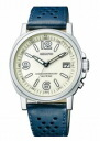 CITIZEN REGUNO citizen Ragno men's watches solar TEC radio watch ivory blue leather KL7-213-10