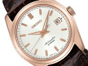SEIKO mechanical self-winding watch standard series men watch white X pink gold brown leather belt SARB072
