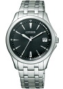 Citizen forma mens watch eco-drive radio clock perfect black FRB59-2552