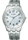 Citizen forma mens watch eco-drive radio clock perfect white FRB59-2553