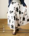 """Mori"" (white) flowers embroidered skirt 6/18 new"