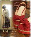 (Dark red) came to that classic Ribbon shoes summer sandal version. Why not served with a classic Ribbon 2 color linen with braided hair, a refreshing summer sole toe? (Non-) Mori GA - Le