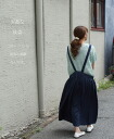 ★ ★ cawaii x エプロンワン piece of the forest girl * linen blend material. Yearning to work apron that clerks saw in a fashionable city. Pretty loose in elbow-length order and design. (Not available)
