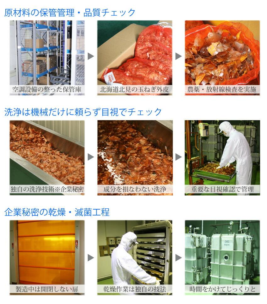 玉ねぎ皮茶の製造2