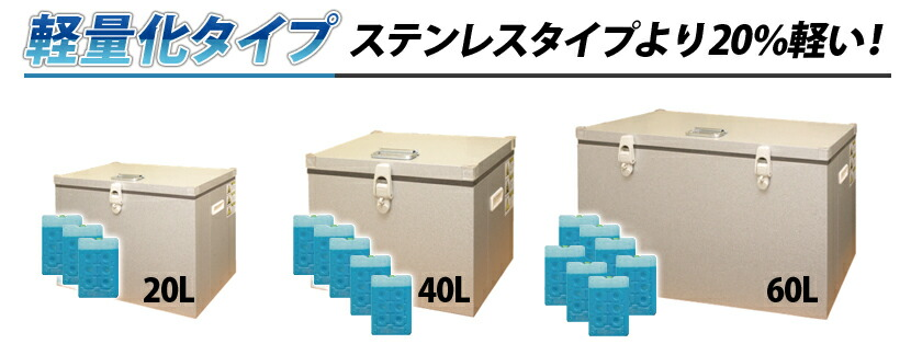 KRクールBOX軽量化タイプ一覧