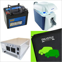 Simple and convenient! portable power supply + car night halt speciality mat 2 + cold, heating cabinet set