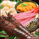 A premium gourmet Japanese set (うに, lobster, abalone, scallop adductor muscle, crab) (one abalone *1 bag, two lobsters *1 bag, うに 60 g *1, scallop adductor muscle (2L) 500 g *1 bag, 500 g of deep red snow crabs *1)