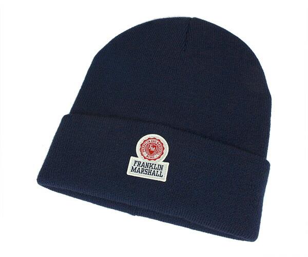 富兰克林与马歇尔针织帽针织帽子海军富兰克林 & 马歇尔针织帽 cpua