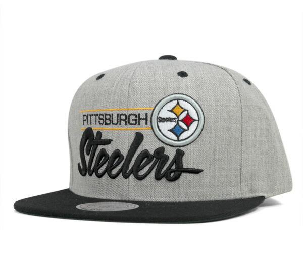 Mens Pittsburgh Steelers Mitchell & Ness Gold Retro Blur Crew Sweatshirt