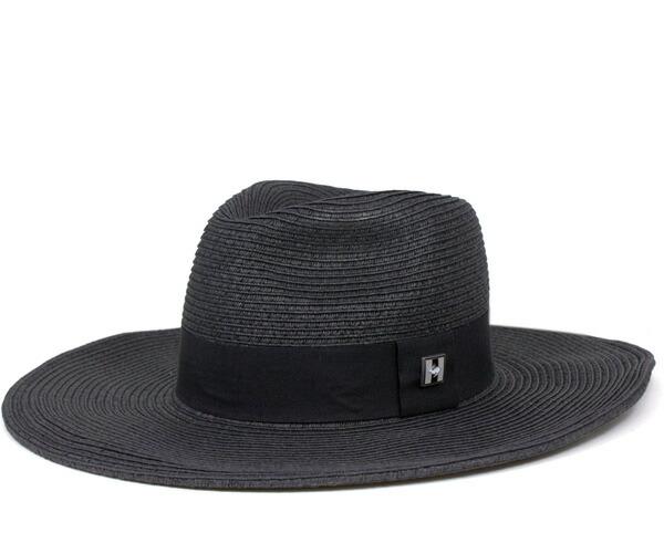 Black Straw Hat Hat Claudia Black Straw