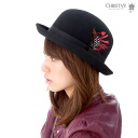 크리스티 크라운 모자 블랙 CHRISTYS ' CROWN BOWLER BLACK #HA: F #WN: H