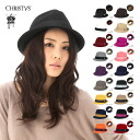 Christie's Crown series Fedora wool caps & hats CCS96 all 18 colors CHRISTYS ' CROWN BASIX FELT FEDORA RIBBON HAT #WN: H #HA: F