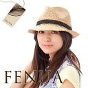 Raffia Hat 100% soft caps & straw hat Whenua Fedora black band FENUA RAFFIA FEDORA ★ #WN: S