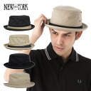 New York Hat cotton-canvas スティンジー pork pie hat all 4 colors NEW YORK HAT COTTON / CANVAS STINGY HAT #HA.