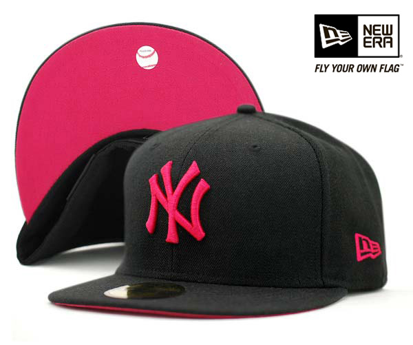 cool tattoos pink and black yankees hat