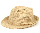 New York Hat raffia Fedora natural NEW YORK HAT RAFFIA FEDORA NATURAL #WN: S