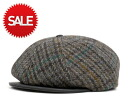 New York Hat Harris Tweed Gatsby grey NEW YORK HAT HARRIS TWEED GATSBY GRAY #CQ