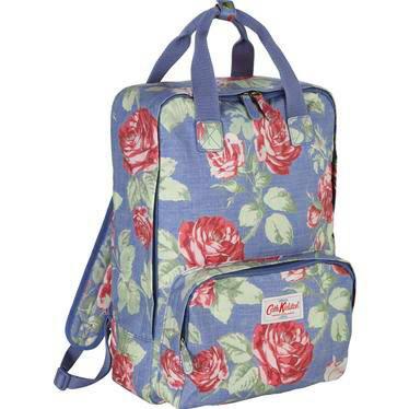 Cath Kidston Blue Rose Floral Backpack Shoulder Handbag Tote Ladies Travel Bag | EBay