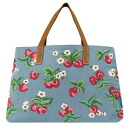 Cath kidston (Cath Kidston) Strawberry embroidered leather handle bag fs3gmfs2gm