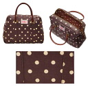Cath kidston (Cath Kidston) Reza handle bowling bag (spot/Brown) fs3gm