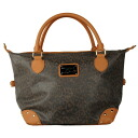 Lounge fried food (Loungefly) ハローキティレオパード pattern leather-like bag / Boston bag (brown) fs3gm