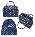 Cath Kidston Button Spot Leather Bowling Bag / handbag (spot / royal blue) upup7