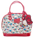 Lounge fried food (Loungefly) hello kitty nostalgic pattern enamel monogram bag / handbag fs04gm
