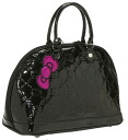 Lounge fly ( Loungefly ) Hello Kitty エナメルモノグラムトート bag fs3gm